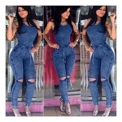Jeansový overal - 4 velikosti