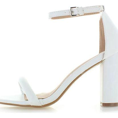 Bílé sandály Amber