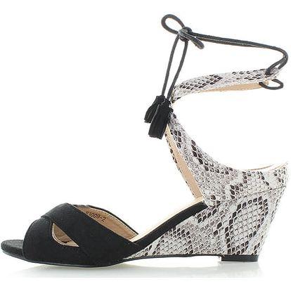 Černé platformové sandály Mia