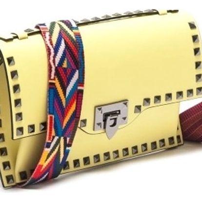 Žlutá kožená kabelka Isabella Rhea Salix - doprava zdarma!
