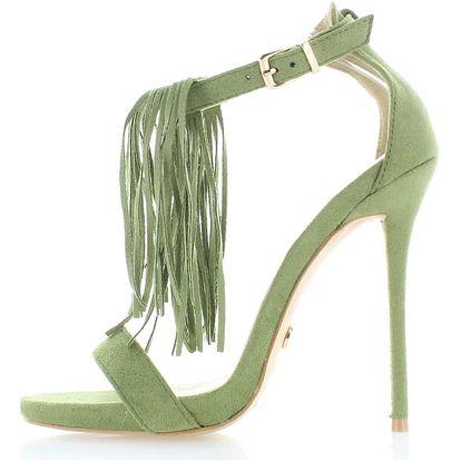 Zelené sandály Inuska