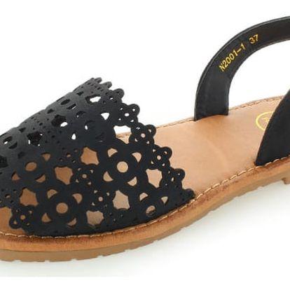 Černé sandály Espanya