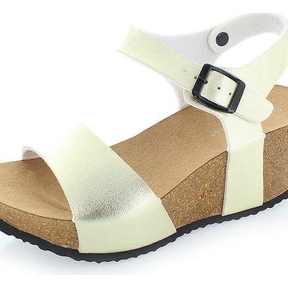 Zlaté platformové sandály Severina
