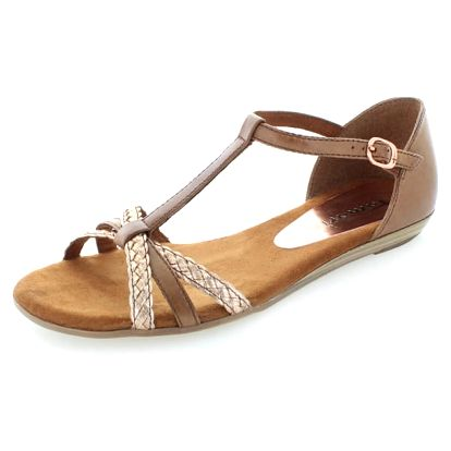 Tmavě hnědé sandály Tamaris 28137