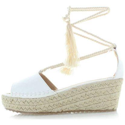 Bílé platformové sandály Jovanna