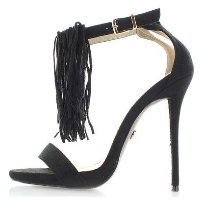 Černé sandály Inuska