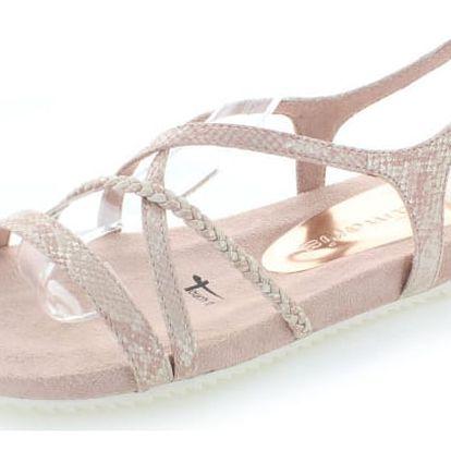 Světle růžové sandály Tamaris 28106