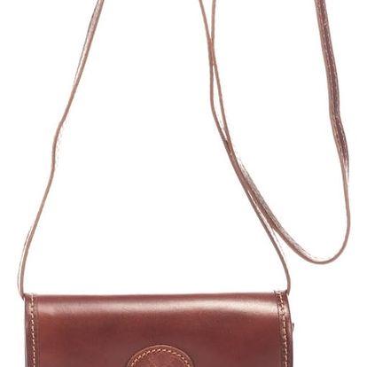 Hnědá kožená kabelka Lisa Minardi Laura - doprava zdarma!