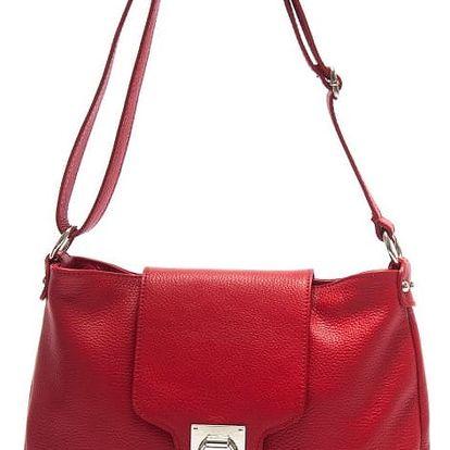 Červená kožená kabelka Isabella Rhea Laurus - doprava zdarma!