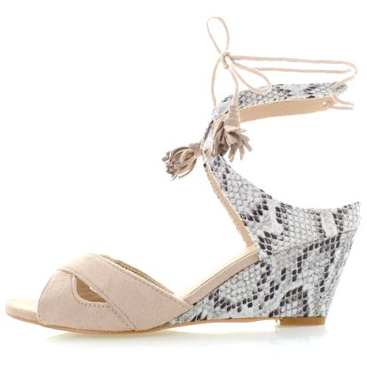 Béžové platformové sandály Mia