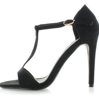 Černé semišové sandály Sparks