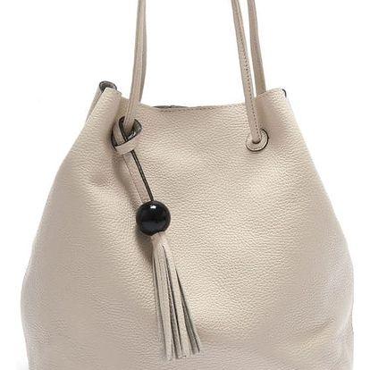 Béžová kožená kabelka Isabella Rhea Sorbus - doprava zdarma!