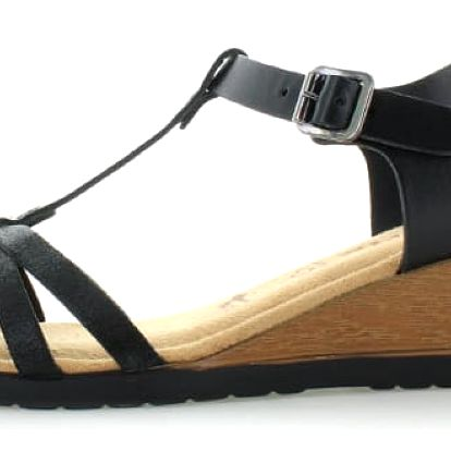 Černé sandály Tamaris 28218