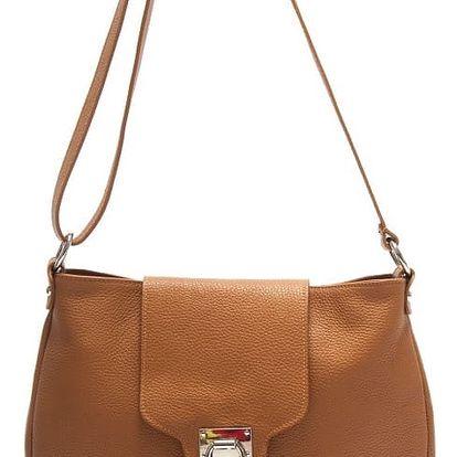 Hnědá kožená kabelka Isabella Rhea Laurus - doprava zdarma!