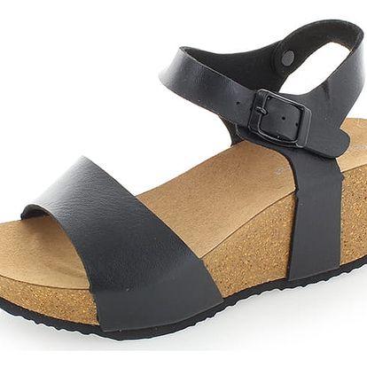 Černé platformové sandály Severina