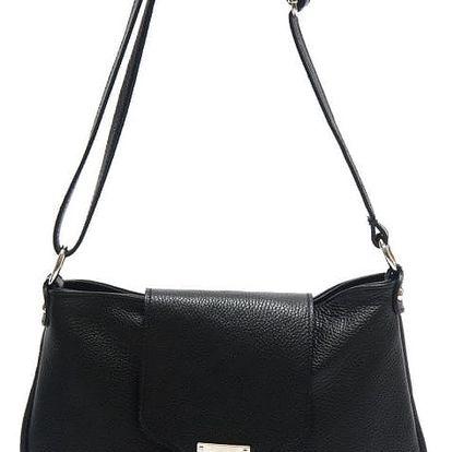 Černá kožená kabelka Isabella Rhea Laurus - doprava zdarma!