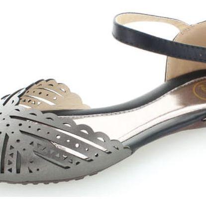 Černé sandály Beatha