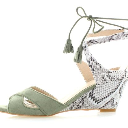 Olivové platformové sandály Mia