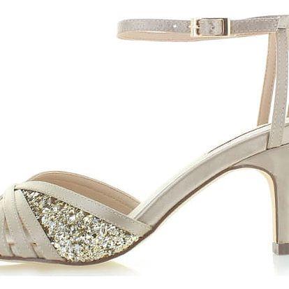 Béžovo-zlaté sandály Menbur Gramava