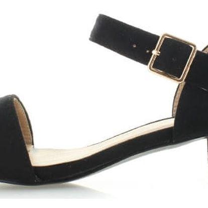 Černé sandály Luisa