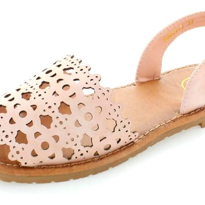 Růžovo-zlaté sandály Espanya