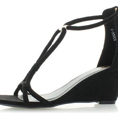 Černé platformové sandály Marisa