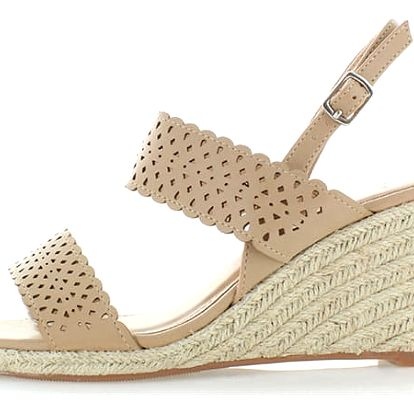 Béžové platformové sandály Paradisa