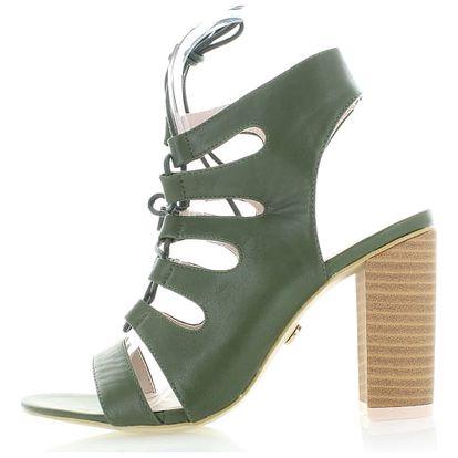 Tmavě zelené sandály Rania