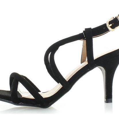 Černé sandály Motion