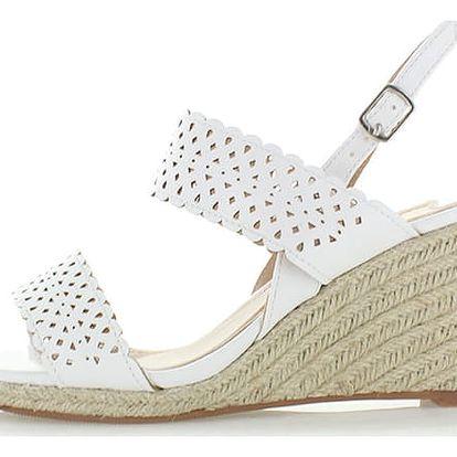 Bílé platformové sandály Paradisa