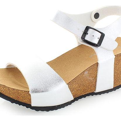 Stříbrné platformové sandály Severina