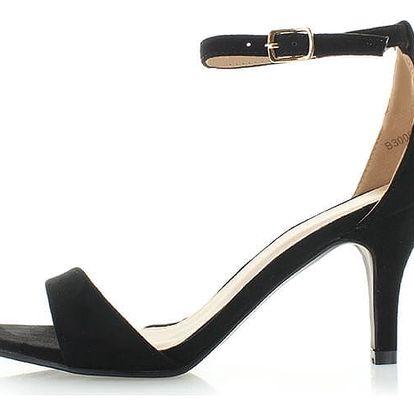 Černé semišové sandály Rico