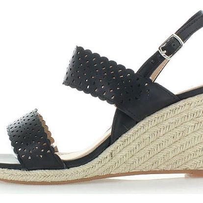 Černé platformové sandály Paradisa