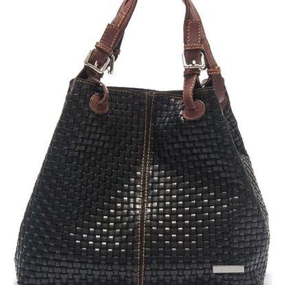 Černá kožená kabelka Isabella Rhea Hottonia - doprava zdarma!
