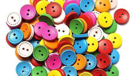 100 kusů barevných knoflíků - dodání do 2 dnů