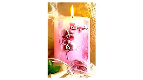 Svíčka orchidej oživí Váš interiér a zpříjemní atmosféru domova nebo jako slavnostní dekorace.