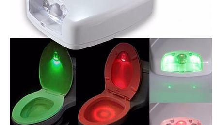 LED světlo na záchodovou mísu s detektorem pohybu - dodání do 2 dnů