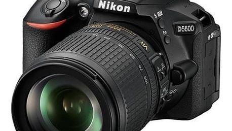 Digitální fotoaparát Nikon D5600 + AF-S 18-105 VR černý