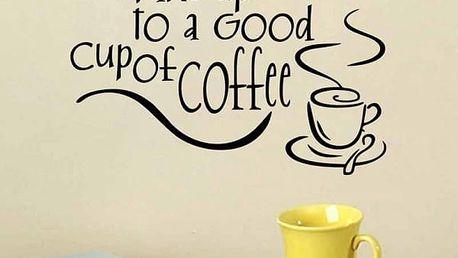 Samolepka na zeď pro milovníky ranní kávy