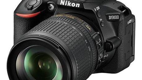Digitální fotoaparát Nikon D5600 + AF-S 18-105 VR černý + Doprava zdarma