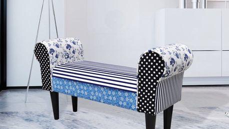 Patchworková lavice ve venkovském stylu Dekorhome