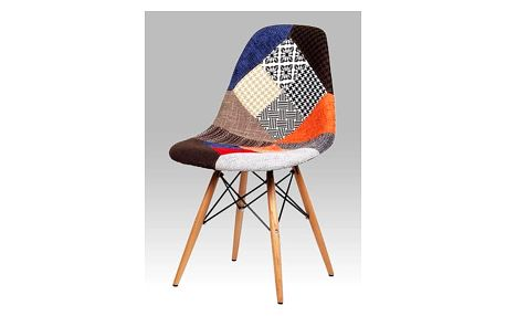 Jídelní židle patchwork / natural CT-724 PW2 Autronic
