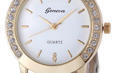 Dámské hodinky s decentním zdobením na krajích - bílá - dodání do 2 dnů