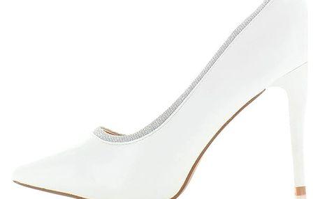 Bílé lodičky Priscila