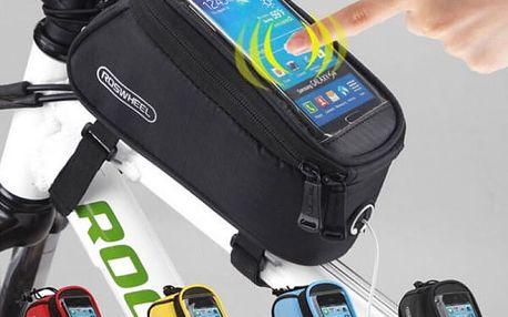 Brašna na jízdní kolo s kapsou na smartphone