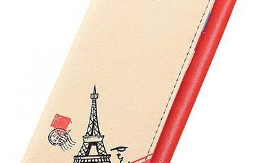 Dámská peněženka s Eiffelovou věží a puntíky