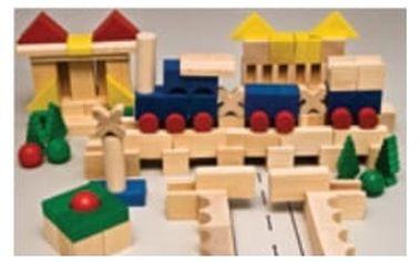 Dřevěná stavebnice XL AD413