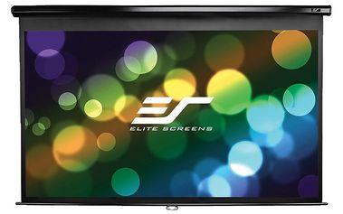 """Elite Screens plátno roleta 84"""" (213,4 cm)/ 16:9/ 104,1 x 185,4 cm/ case černý - M84UWH"""