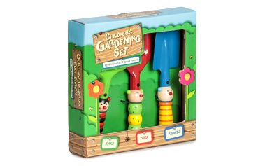 Dětský dřevěný set zahradního nářadí