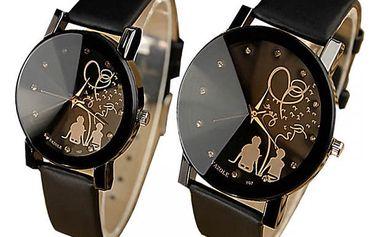 Dámské hodinky se zamilovaným párem - 2 velikosti, 2 barvy